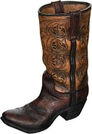 Home Decor Vase Amazon Com Boots And Spurs Western Cowboy Boot Vase For Western