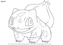 learn draw bulbasaur pokemon pokemon step step