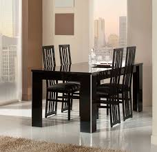 Modern Italian Black Lacquer Dining Table - Black lacquer dining room set
