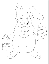 toothy easterbunny printable coloring pictures easter