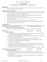 project coordinator cover letter samples free resume examples tag