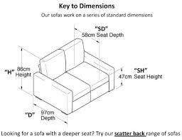 Depth Of A Sofa Standard Sofa Seat Dimensions Memsaheb Net