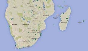 Southern Africa Map Southern Africa U0027s Ramsar Sites Pictures