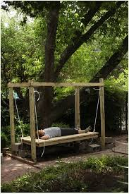 Backyard Swing Ideas How To Build A Hanging Bed Easy Diy Outdoor Swing Bed To
