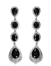 black chandelier earrings cz chandelier earrings beloved sparkles
