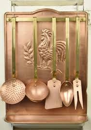 b770 s fantastic antique french copper kitchen rack u0026 utensil