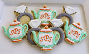tea party bridal shower favors s cookies 2014