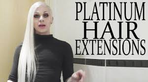 white hair extensions platinum silver or white hair extensions how to