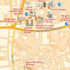 Map Of Al Official Map Al Muharraq City Centre Central Downtown Kingdom