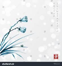 blue seed dry blue seed heads lotus flower stock vector 697695520 shutterstock