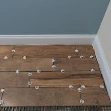 Tile On Wall In Bathroom How To Install Wood Look Floor Tile