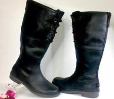 s ugg australia black elsa boots ugg australia leather pull on knee high boots for ebay