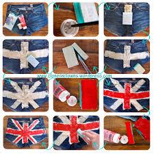 British Flag Shirts Diy Union Jack Cut Off Shorts Clones U0027n U0027 Clowns