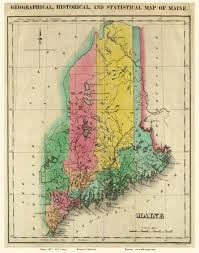 Map Maine Old Maps Of Maine Small State Maps