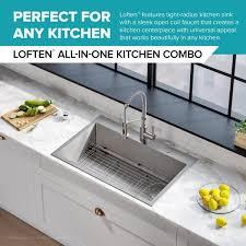 home depot kitchen sink vanity kraus loften all in one dual mount drop in stainless steel