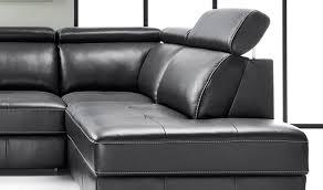 canapé d angle en cuir design canapé d angle convertible en cuir avec appuis têtes réglables