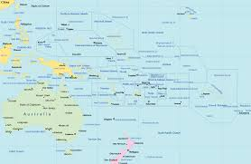 South Pacific Map Political Map Pacific Islands