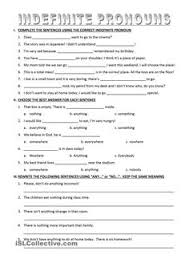 possessive pronoun worksheet 6th grade english reading