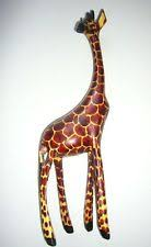 wooden mounted giraffe collectables ebay