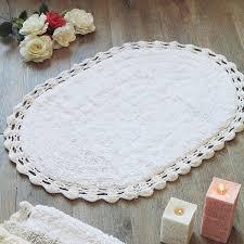 Blanc Mariclo Tappeti by Tappeto Bagno Shabby Chic Ovale Bordo Crochet Blanc Mariclo Colore