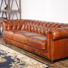 Leather Loveseats Furniture Exquisite Comfort With Leather Tufted Sofa