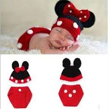newborn disney minnie mouse photo session idea babies
