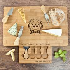 engraved cheese board custom engraved cheese board knife set somethings get better with