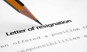sample resignation letter resignation from the post of secretary