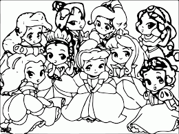 disney baby princess coloring pages coloring