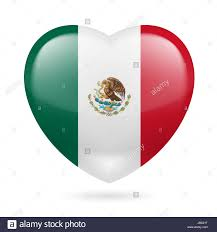 Mexixan Flag Heart With Mexican Flag Colors I Love Mexico Stock Photo Royalty