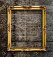 picture frame on vintage wood wall stock photo picture and