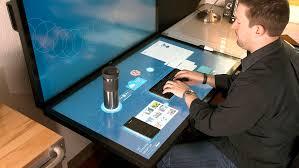 bureau tactile a quoi pourrait ressembler votre bureau de travail dans le futur