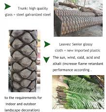 4meter high outdoor plants artificial trees steel palm