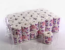 wrapped toilet paper toilet tissue