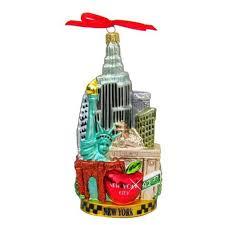 new york city tour glass ornament