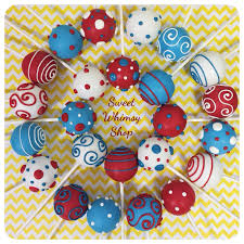 12 assorted polka dots u0026 swirl cake pops for dr seuss cat in