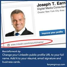 Resume Linkedin Url Socialforwork Tip Change Your Linkedin Public Profile Url To