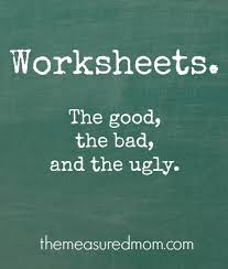are worksheets good or bad the measured mom
