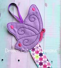 ith butterfly bow holder embroidery design dreamcatcher designs