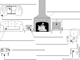 livingroom in label the living room in printout enchantedlearning