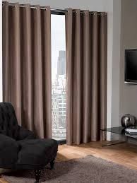 Brown Blackout Curtains Ready Made Blackout Eyelet Curtains Functionalities Net