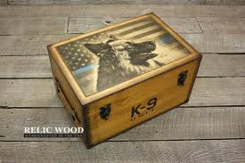 wood gifts k 9 unit thin blue line gifts