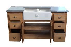 meuble sous evier cuisine meuble evier de cuisine 2 bacs en bois