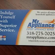 Appliance Business Cards Mr Appliance Of Shreveport Closed Appliances U0026 Repair