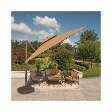 10 Ft Patio Umbrella by 10 Ft X 10 Ft Square Cantilever Umbrella With Protective Cover