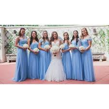 bridesmaid gown discount light blue a line princess bridesmaid dresses comely