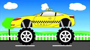 monster trucks video clips taxi truck monster trucks for children video for kids video