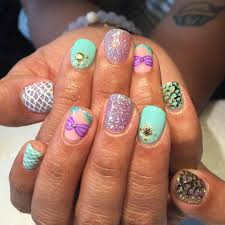 mermaid nails for lady thelittlemermaid nails hair and