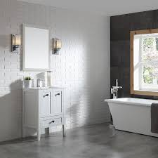 Ove Decors Bathroom Vanities Shop Ove Decors Andora Matte White Integral Single Sink Bathroom