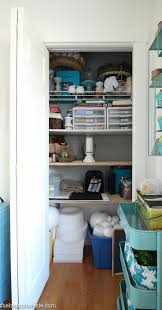 How To Organize A Closet How To Organize A Craft Room Work Space The Happy Housie